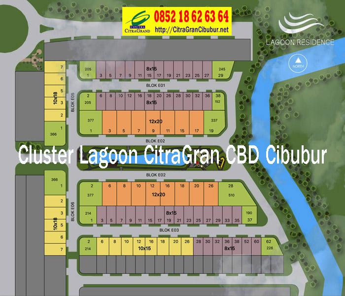 Denah Stok Unit Cluster Lagoon Residence CitraGran CBD Cibubur