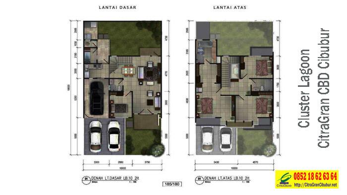 L10-Denah Cluster Lagoon Residence CitraGran CBD Cibubur