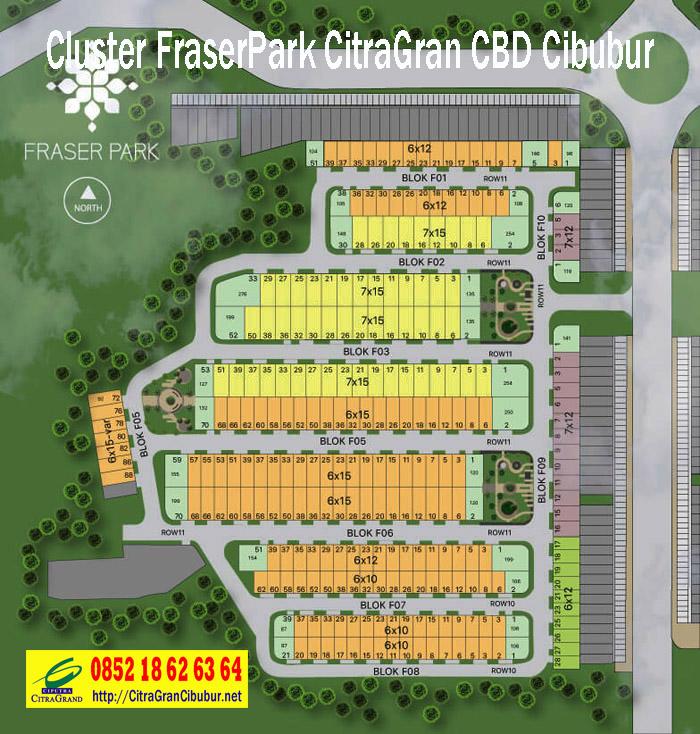 Site Plan Cluster Fraser Park CitraGran CBD Cibubur
